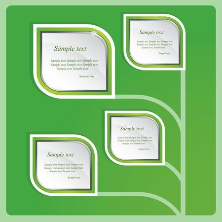 green planet: Fondo verde abstracto del vector Vectores