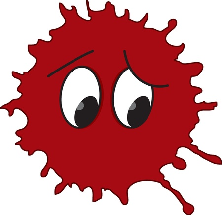 Funny red blot with eyes Stock Vector - 16023475