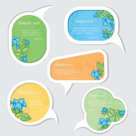 free gift: Speech bubbles set with floral elements