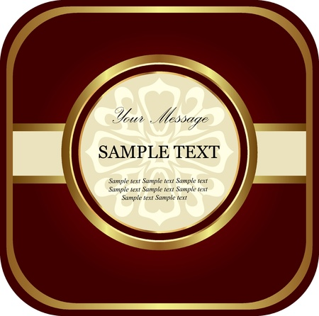 Red gold label  Vector Vector