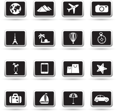 Travel icons set, vector Vector