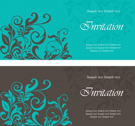Set of floral cards. Vector