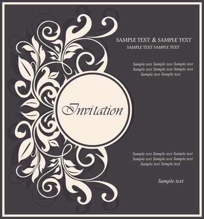 Beautiful floral invitation card.