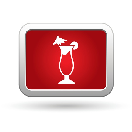 food and drink holiday: Cocktail icon. Vector. Illustration
