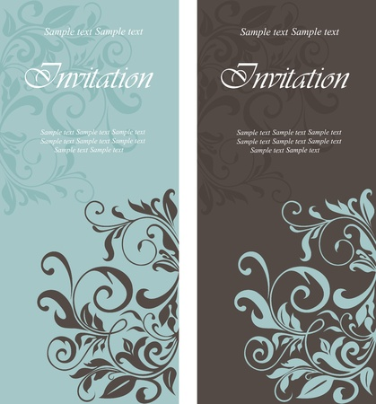 anniversary backgrounds: Beautiful floral invitation cards