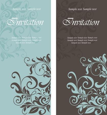 invitacion boda vintage: Hermosas tarjetas de invitaci�n florales