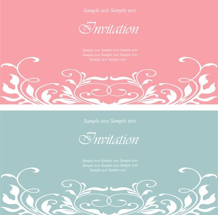 Wedding invitation vintage cards Vector