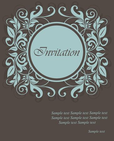 date of birth: Floral invitation card