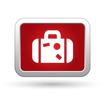 last minute: Suitcase  Vector icon  Illustration