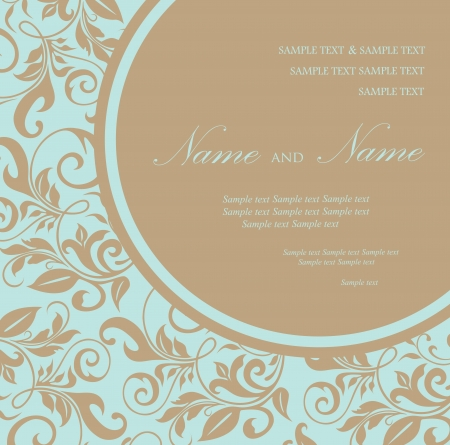 brown swirl: Wedding invitation or announcement