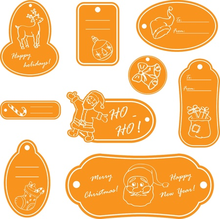 stoking: Christmas tags for decoration.Vector illustration