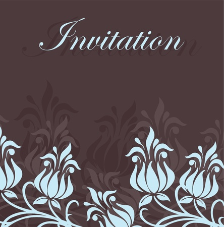 Floral invitation card Stock Vector - 16125531