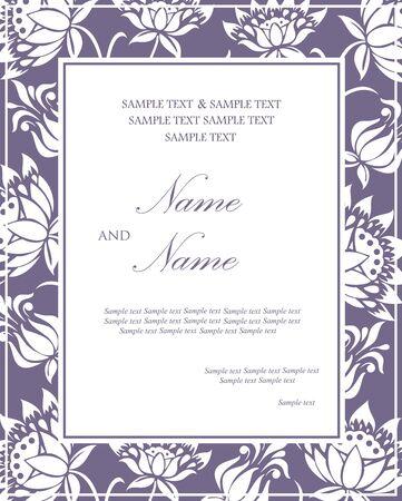 Floral wedding invitation card Stock Vector - 16125726