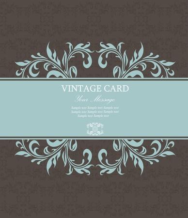 Floral vintage card  Vector Illustration