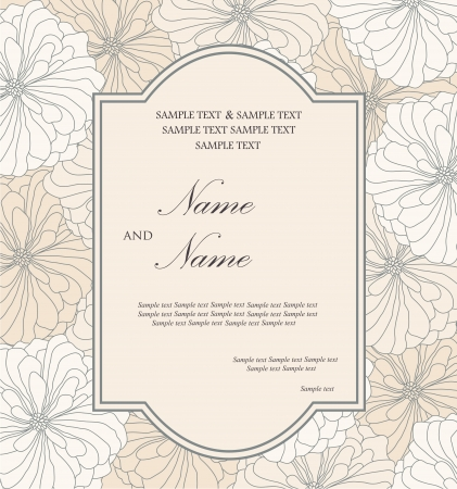 Wedding invitation card Stock Vector - 16710083