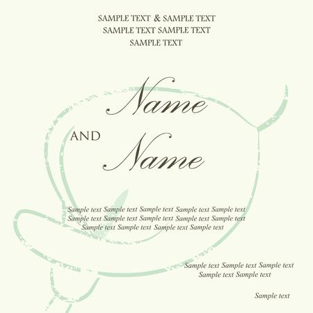 Beautiful wedding invitation card Stock Vector - 16710053