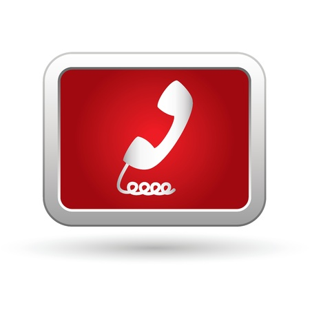 Telephone receiver icon  Vector illustration Vector