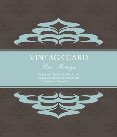 Vintage card  Vector illustration Vector