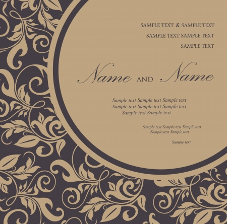 bridal: Invitation floral card