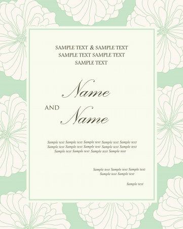 Damask wedding invitation floral card Vector