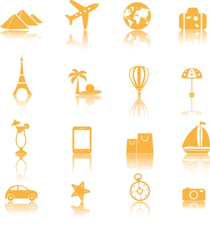 Travel icons set, vector Stock Vector - 16709985