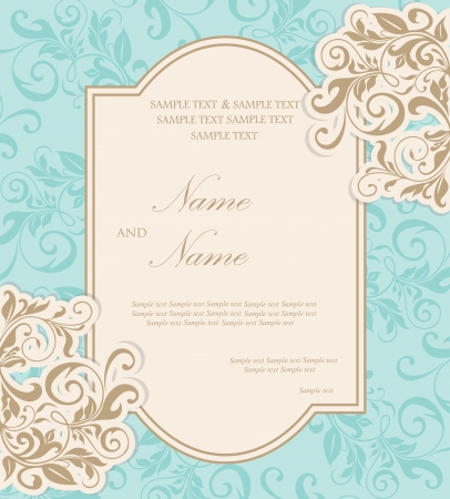 date of birth: Beautiful wedding invitation card