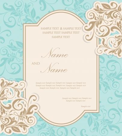 dattel: Sch�ne Hochzeit Einladungskarte