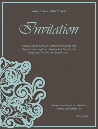 bridal: Floral invitation card  Vector illustration Illustration
