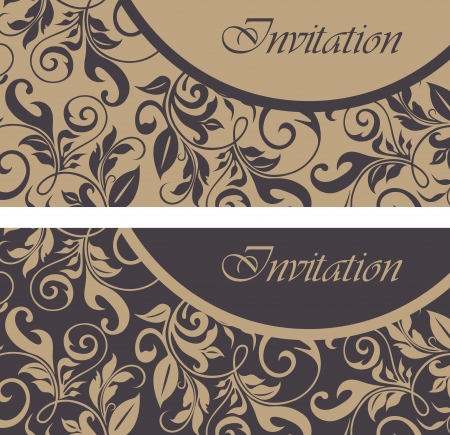 Set of floral invitation cards  Stock Vector - 16709994