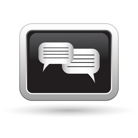 Speech bubbles icon  Vector illustration Stock Vector - 16709959