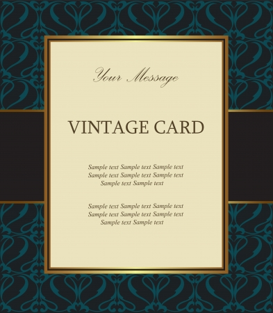 golden border: Luxury vintage card Illustration