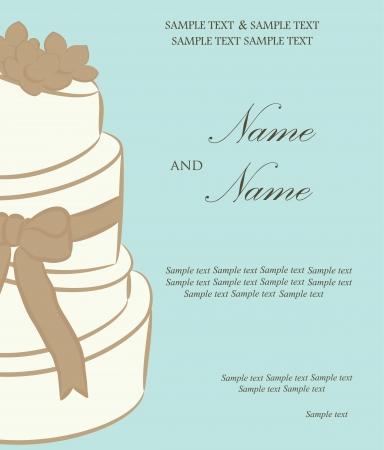 Wedding invitation or announcement  Vector illustration