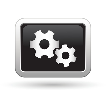 Gears icon  Vector illustration Stock Vector - 16709958
