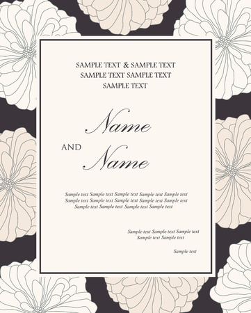 bridal shower: Invitation card  Vector
