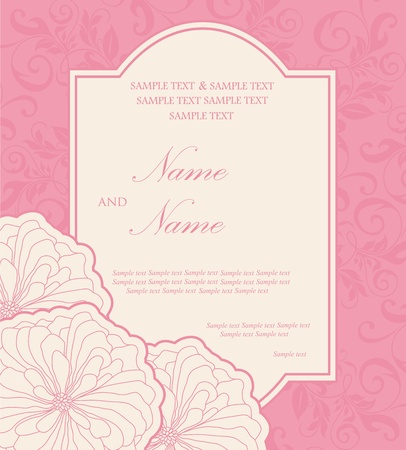 Floral wedding invitation card Stock Vector - 16710046