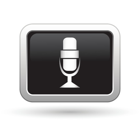 Microphone icon  Vector illustration Stock Vector - 16709951