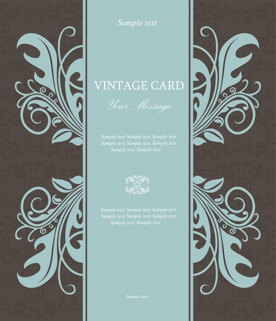 Vintage floral card  Vector illustration