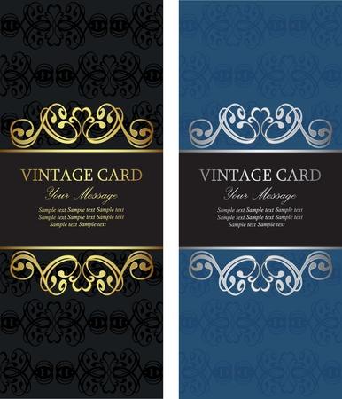 Luxury vintage cards Stock Vector - 16710043