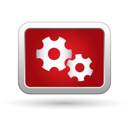 cooperativismo: Engranajes icono ilustración
