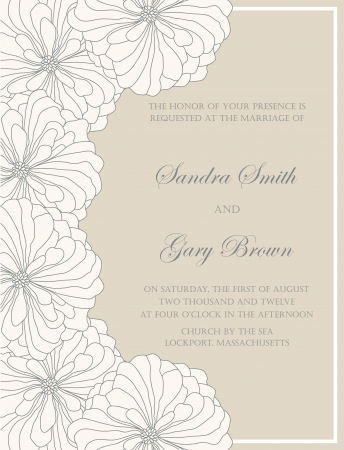 Wedding invitation floral card Stock Vector - 16855328