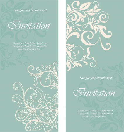 engagement party: Beautiful floral invitation cards