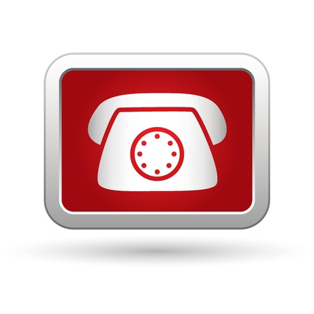 long distance: Telephone icon  illustration