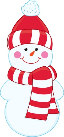 Cartoon snowman  Stock Vector - 16855154