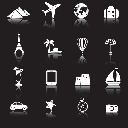 excursions: Travel icons set