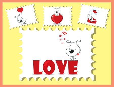 The card for Valentine s Day, the background Vector