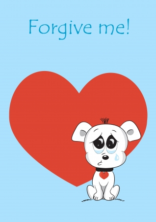 sorry: The cute card for Valentine s Day, the background Illustration
