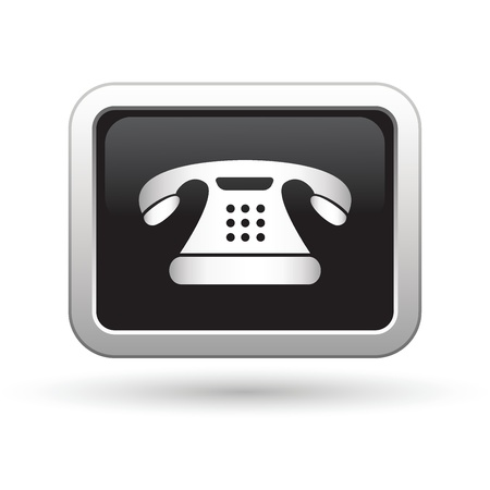 phone number: Telephone icon  Vector illustration