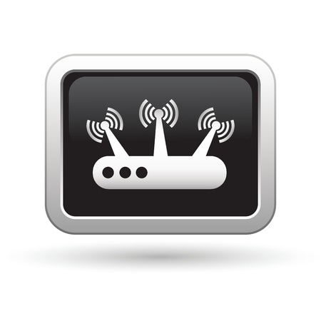 Router icon  Vector illustration Vector