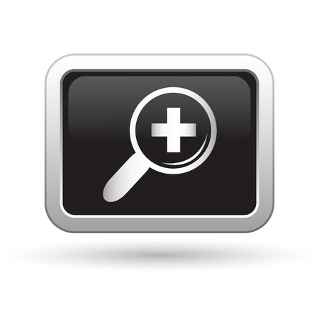 plus symbol: Zoom icon  Vector illustration Illustration