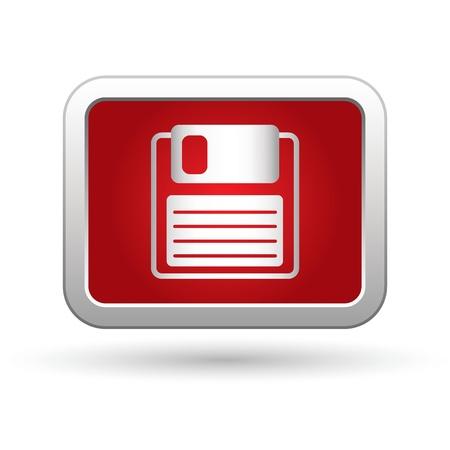 floppy: Floppy disk icon  Vector illustration